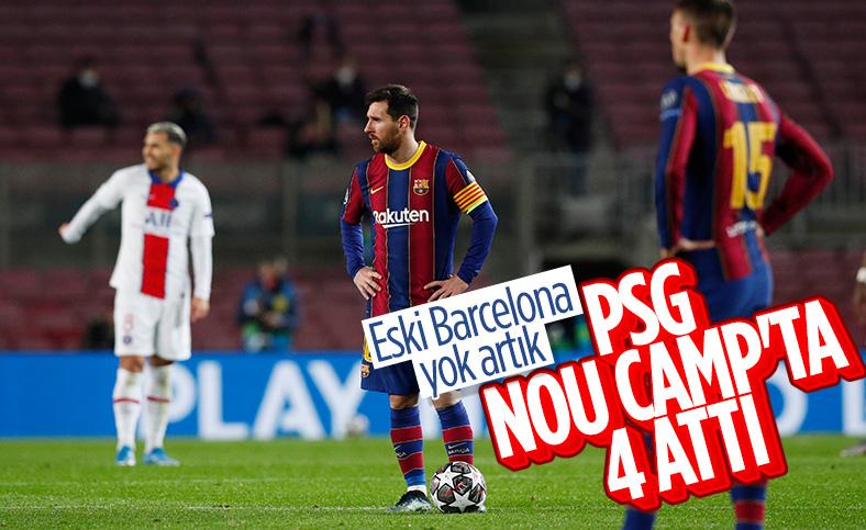PSG deplasmanda Barça'yı 4 - 1 mağlup etti