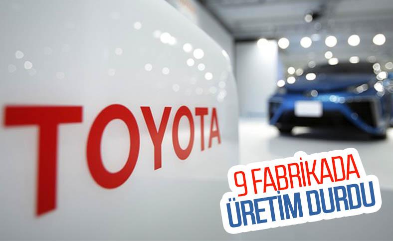 Toyota, 9 fabrikasında üretimi durdurdu