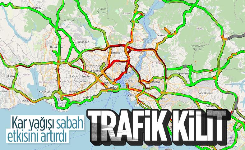 İstanbul'da yoğun trafik görüldü
