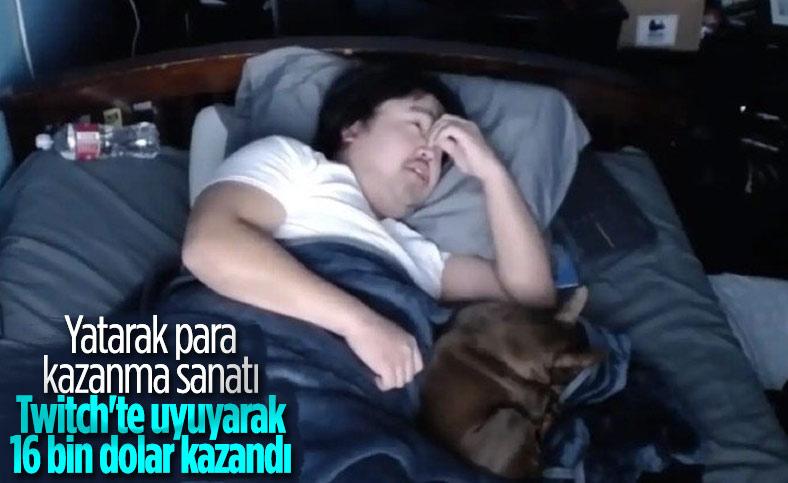 Twitch yayıncısı Asian Andy, uyuyarak 16 bin dolar kazandı