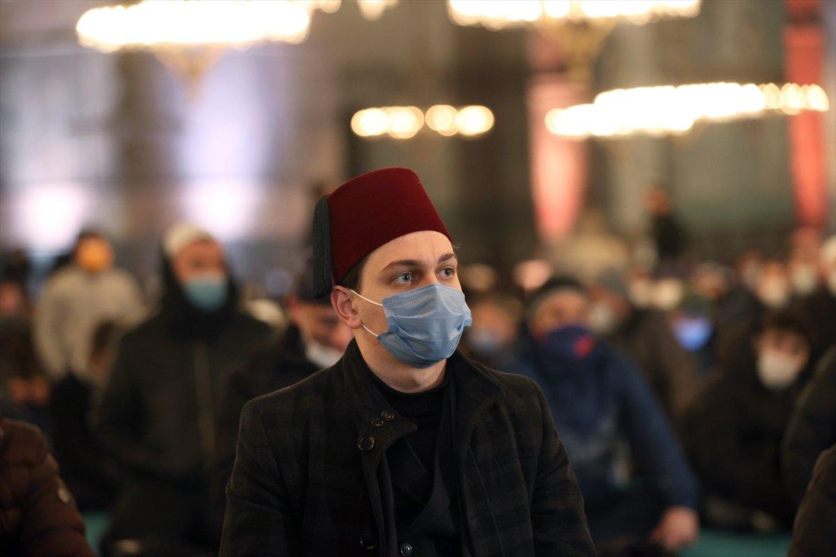Ayasofya da Regaip Kandili idrak edildi #15