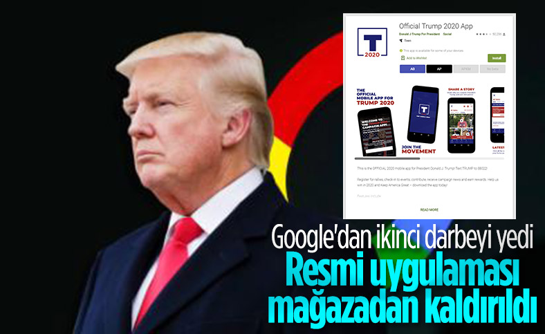 Google, Donald Trump'ın android uygulamasını mağazadan kaldırdı