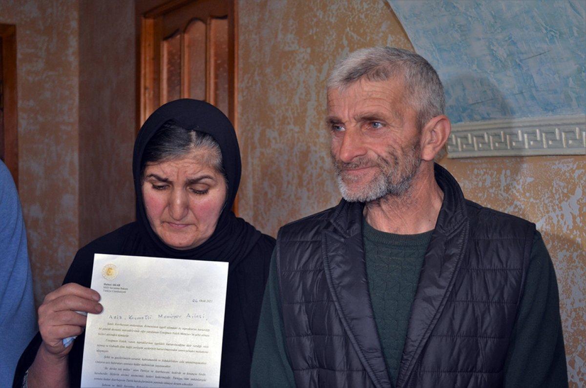 hulusi akar azerbaycanli sehit subayin ailesine mektup gonderdi 7210