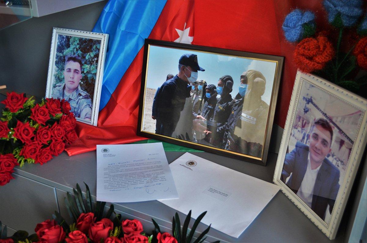 hulusi akar azerbaycanli sehit subayin ailesine mektup gonderdi 9768