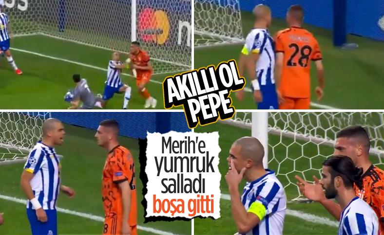 Pepe ile Merih Demiral arasındaki gerginlik