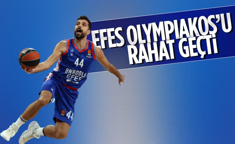 Anadolu Efes Olympiakos'u 23 farkla yendi