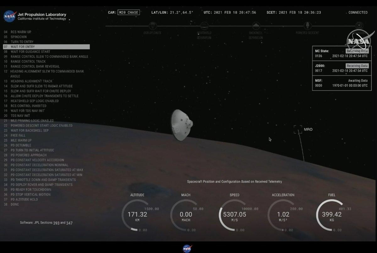 NASA kaşifi Mars a indi #2