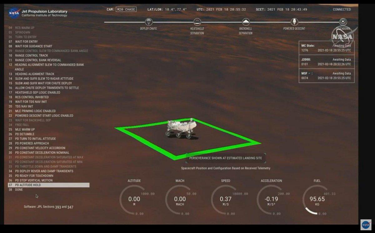 NASA kaşifi Mars a indi #4