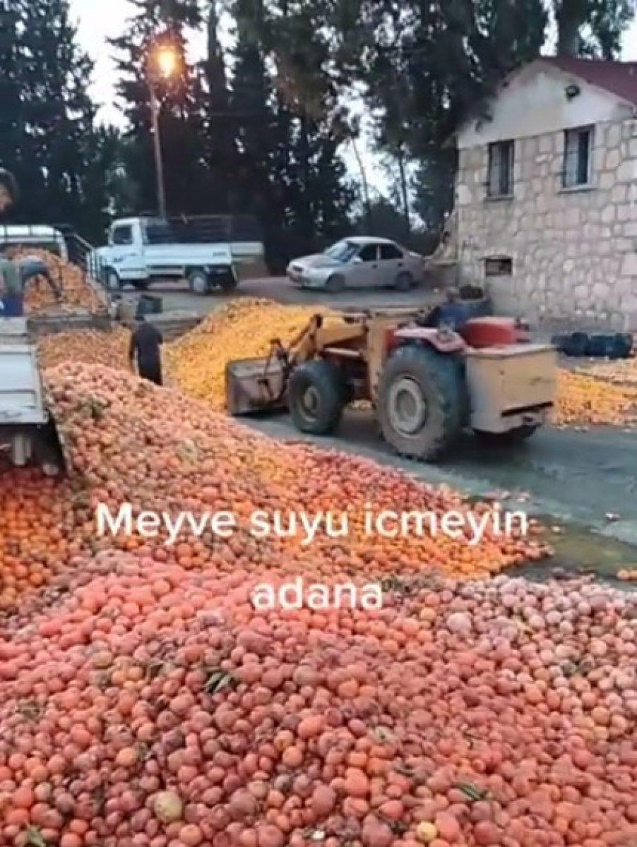 Adana da çürümüş meyvelerden meyve suyu yapıldığı iddia edildi #1