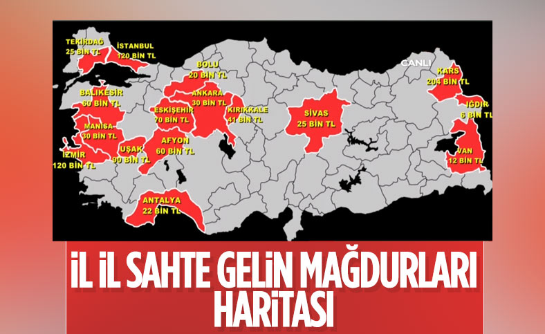 Türkiye'nin sahte gelin haritası