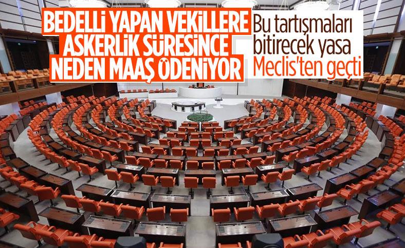 Milletvekillerine askerlik ertelemesi Meclis'ten geçti