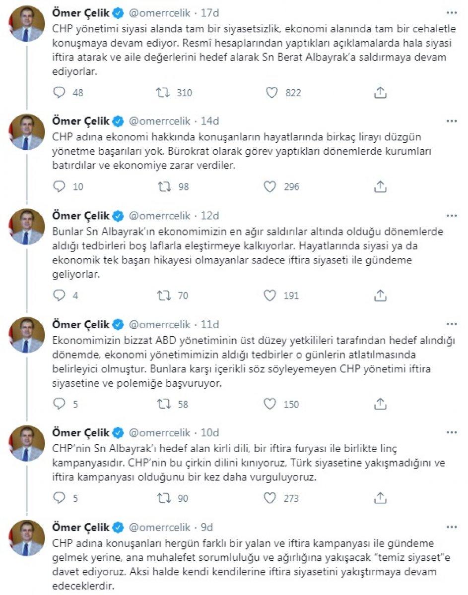 AK Parti Sözcüsü Çelik: Albayrak'ı hedef alan CHP'yi kınıyoruz #1