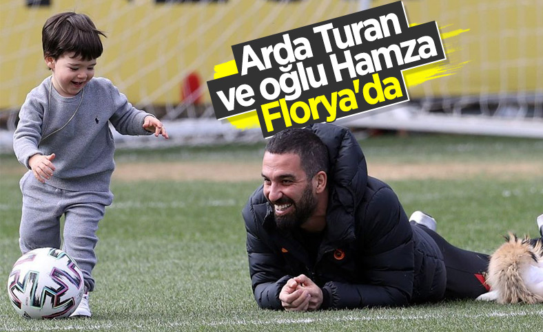 Arda Turan oğluyla birlikte Florya'da