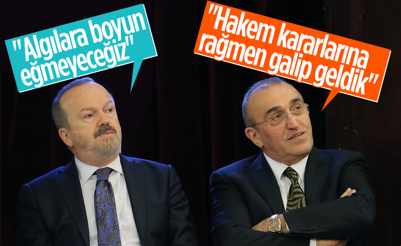 Galatasaray yönetiminden ortak mesaj: Boyun eğmeyeceğiz