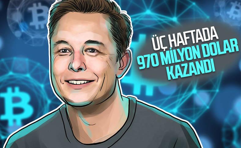 Tesla, Bitcoin yatırımıyla üç haftada 970 milyon dolar kazandı