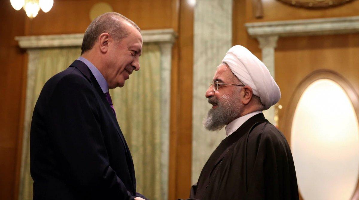 Cumhurbaşkanı Erdoğan, Ruhani yle görüştü #1