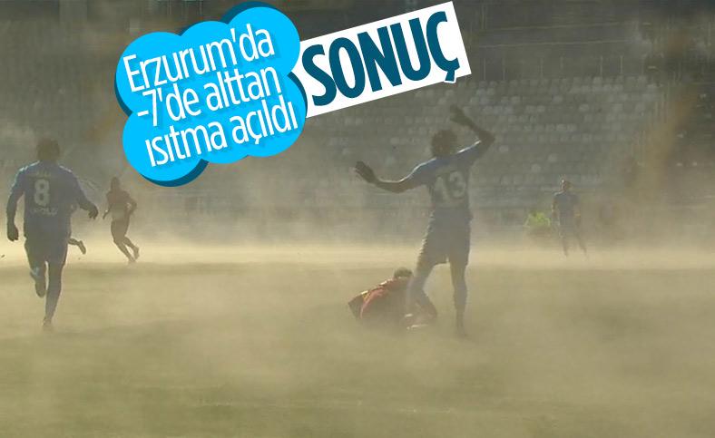 BB Erzurum-Hatayspor maçında ilginç görüntü