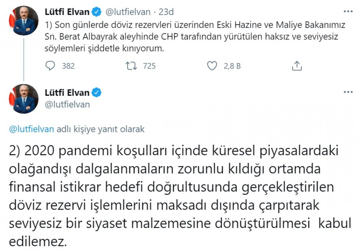 Lütfi Elvan: CHP tarafından yürütülen seviyesiz söylemleri kınıyorum #1