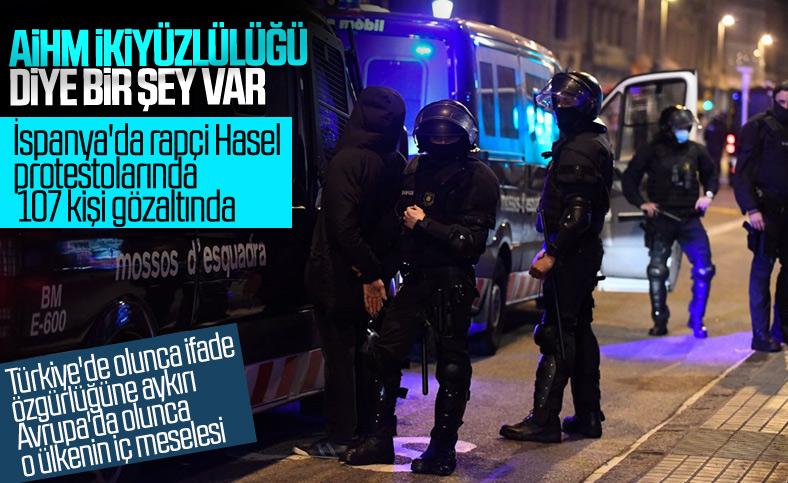 İspanya'da tutuklanan rapçi Hasel'e destek gösterileri devam ediyor