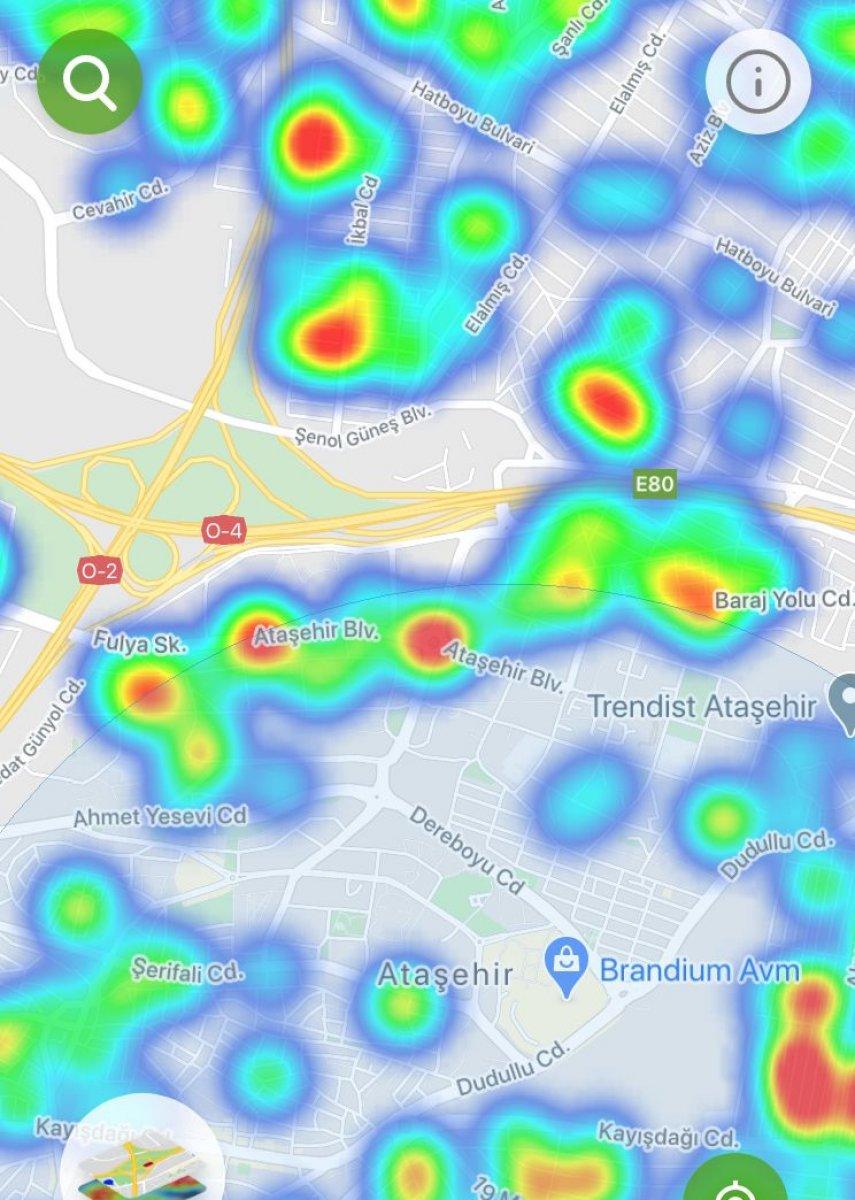 İstanbul da ilçe ilçe vaka yoğunluğu #3
