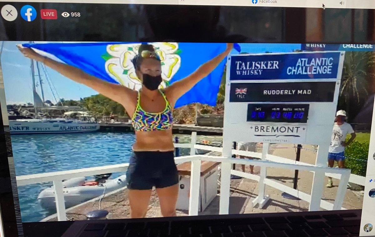 İngiliz Jasmine Harrison, Atlantik Okyanusu nu kürekle geçti #2