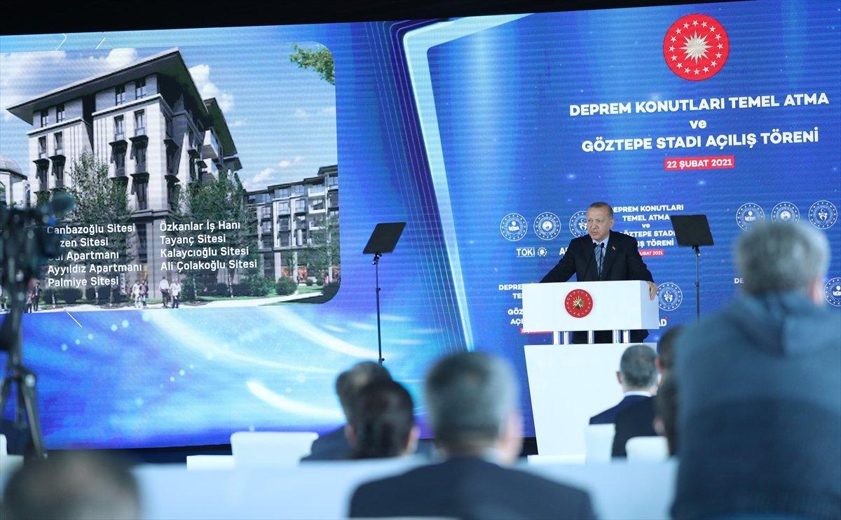 Cumhurbaşkanı Erdoğan İzmir de deprem konutları temel atma törenine katıldı #4