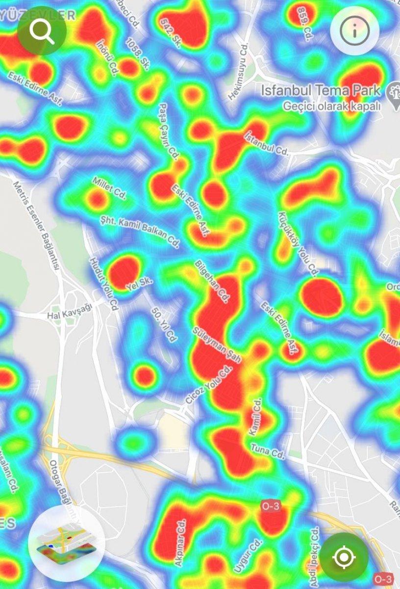 İstanbul da ilçe ilçe vaka yoğunluğu #20