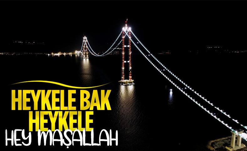 1915 Çanakkale Köprüsü'nün kedi yolu, Boğaz'ı aydınlattı