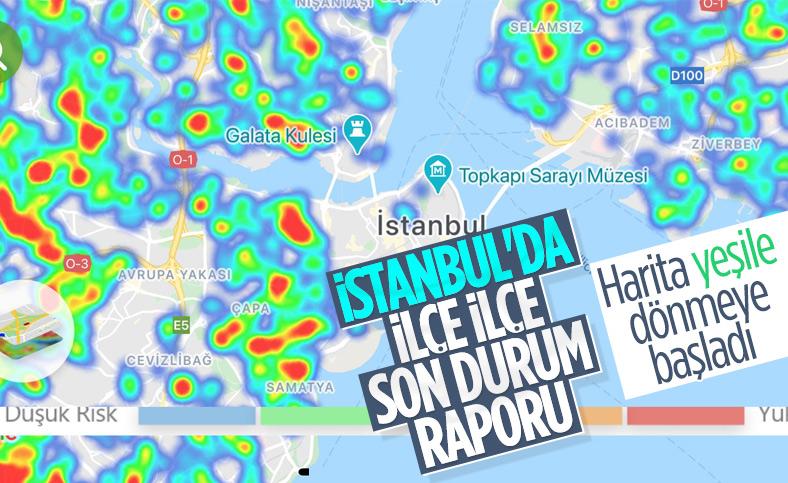 İstanbul'da ilçe ilçe vaka yoğunluğu