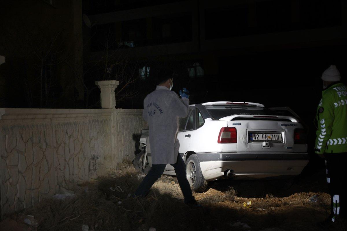 Konya da duvara çarpan sürücü hayatını kaybetti #1