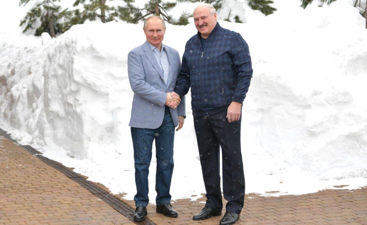Putin ile Lukaşenko dan kar motosikletli diplomasi #2
