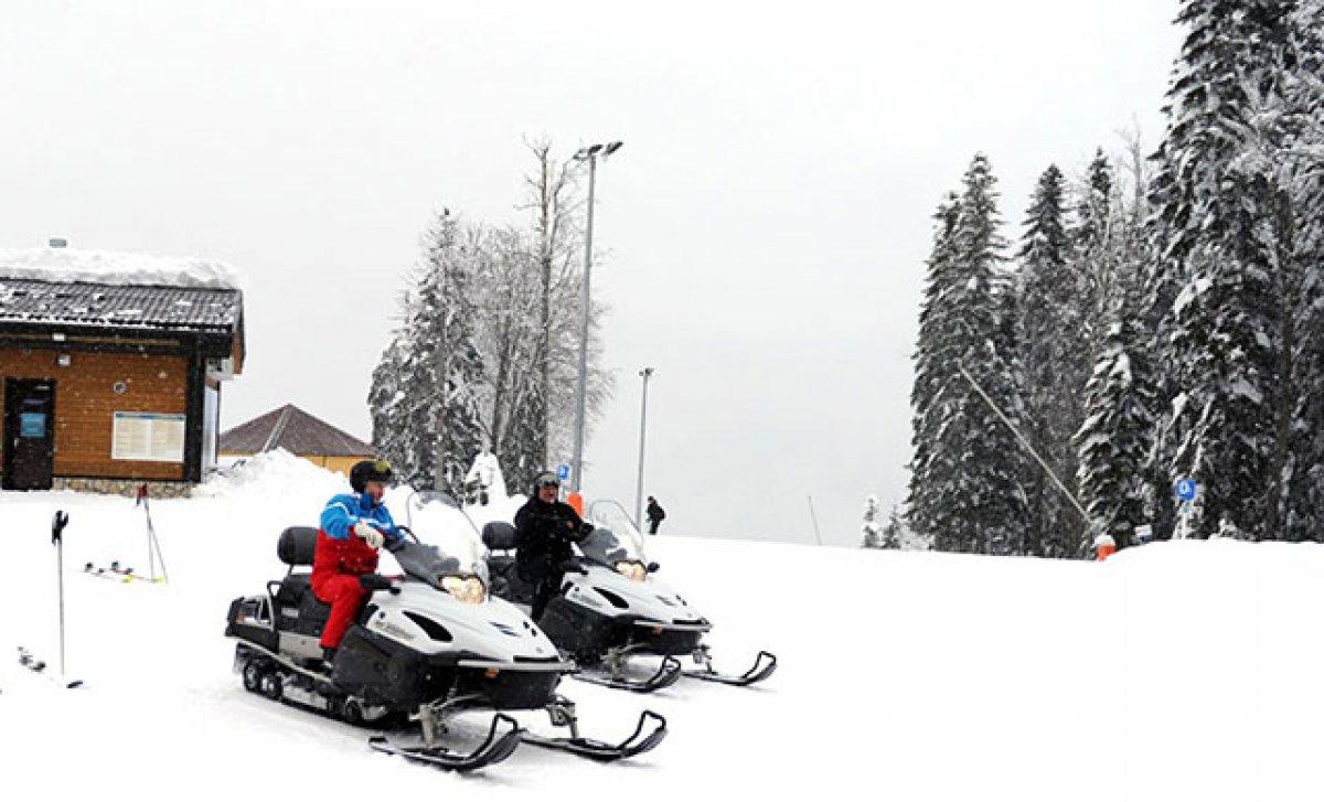 Putin ile Lukaşenko dan kar motosikletli diplomasi #1