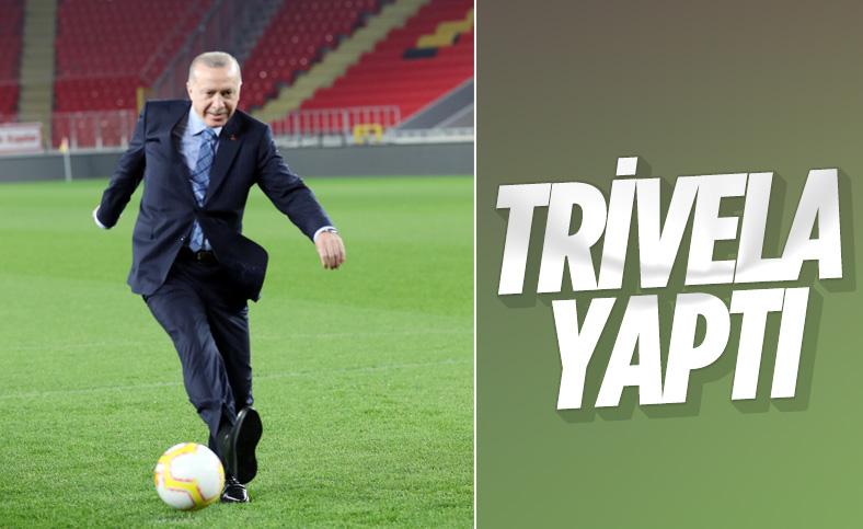 Cumhurbaşkanı Erdoğan'dan gol paylaşımı
