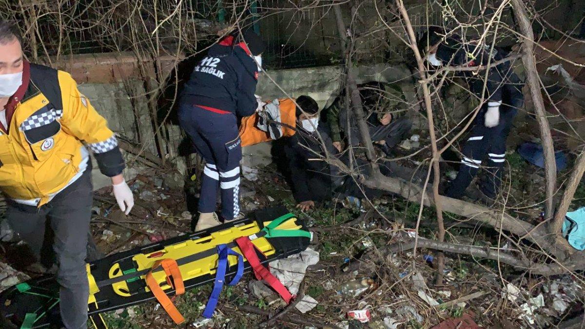 Sancaktepe de polisten kaçan iki şüphelinin bacağı kırıldı #1