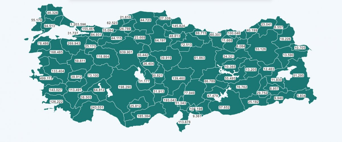 Türkiye de en düşük korona vakası olan iller #3