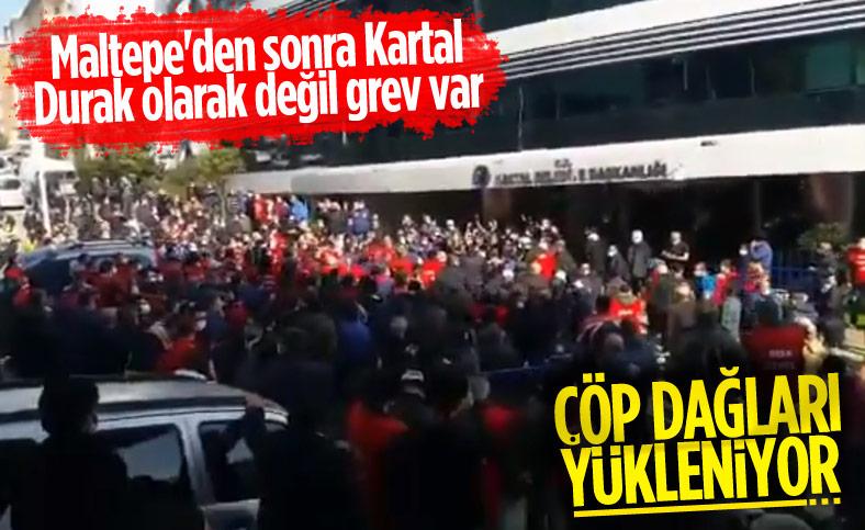 CHP'li Kartal Belediyesi'nde de işçilerden grev kararı