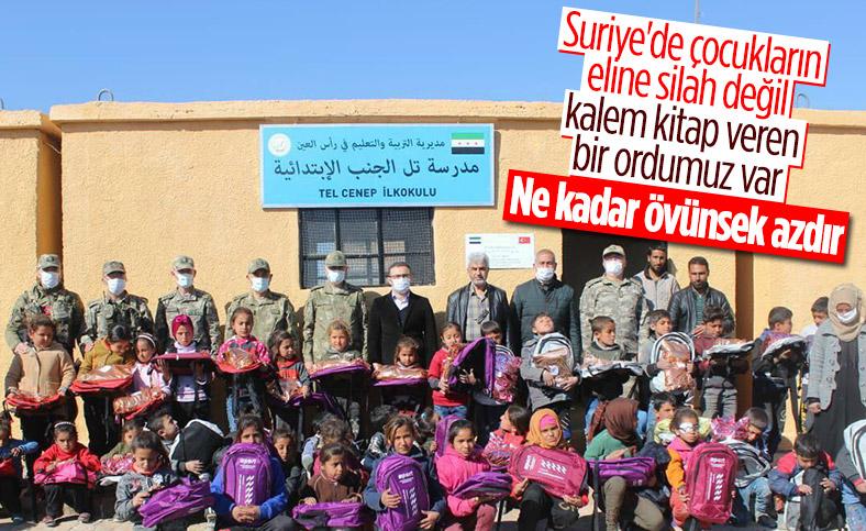 Barış Pınarı bölgesindeki okullar eğitime açıldı