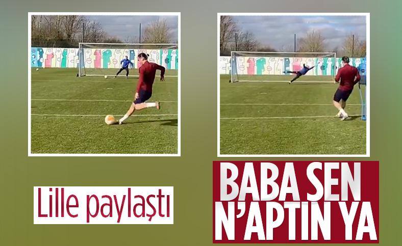 Lille, Yusuf Yazıcı'nın antrenman görüntülerini Twitter üzerinden paylaştı