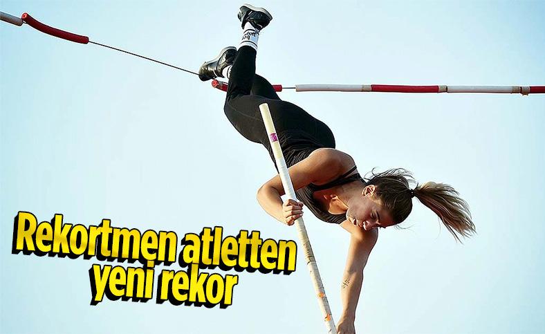 Tutku Yılmaz  sırıkla atlama büyük kadınlar rekorunu geliştirdi