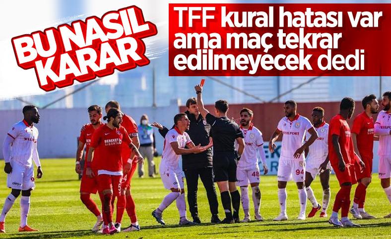 Ümraniyespor-Samsunspor maçı tekrarlanmayacak