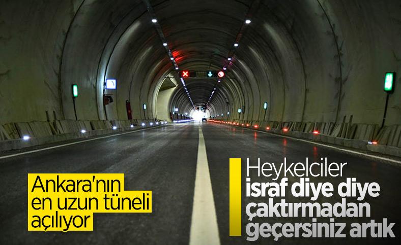 Kızılcahamam - Çerkeş Tüneli açılıyor