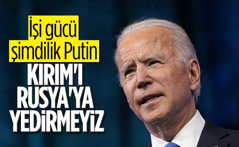 Joe Biden: Rusya'ya karşı Ukrayna'nın yanındayız