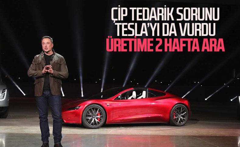 Çip krizinden etkilenen Tesla, Model 3 üretimine ara verdi