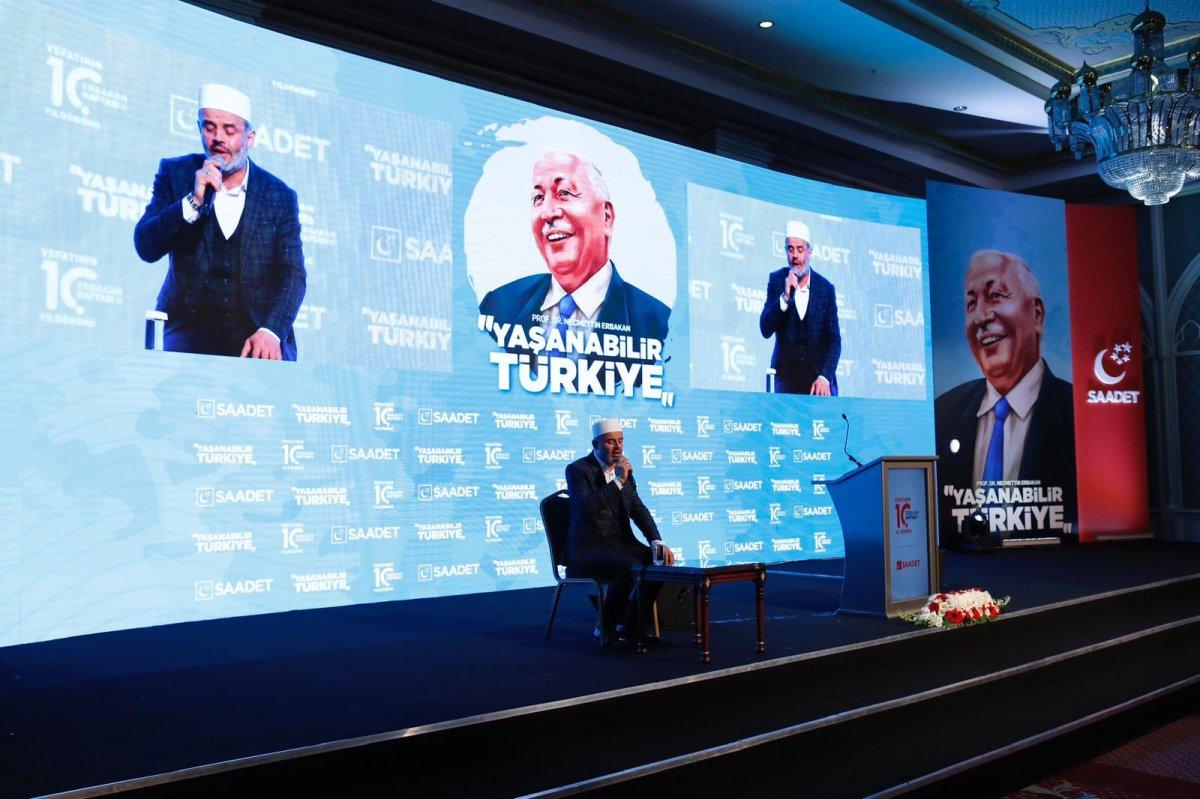 Siyasetçiler Erbakan ı anma programında bir araya geldi  #2