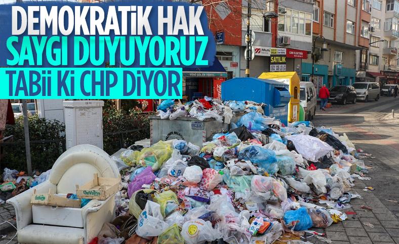 Maltepe Belediye Başkanı Ali Kılıç, çöplerin yanında açıklama yaptı