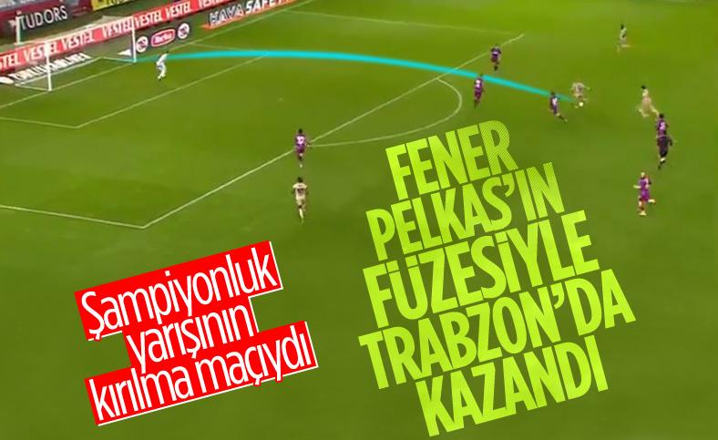 Fenerbahçe Trabzon deplasmanından 3 puanla döndü