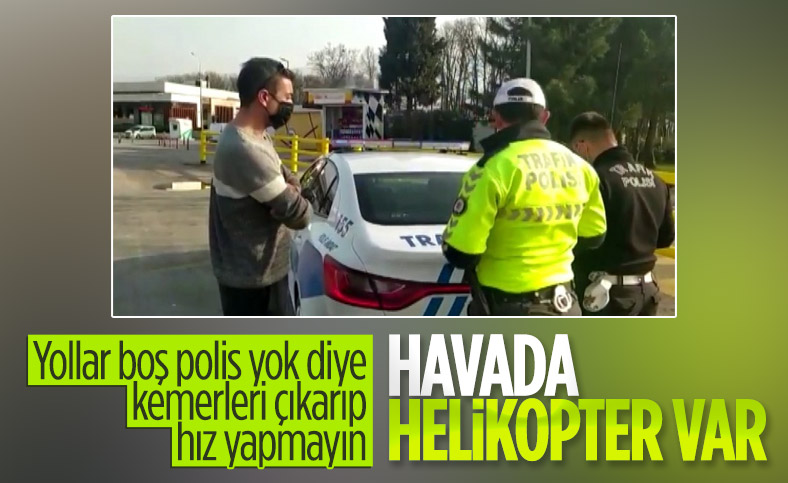 İstanbul'da helikopter destekli trafik denetimi yapıldı