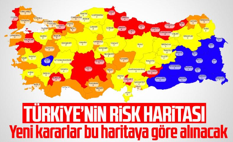 81 ilin koronavirüs risk haritası