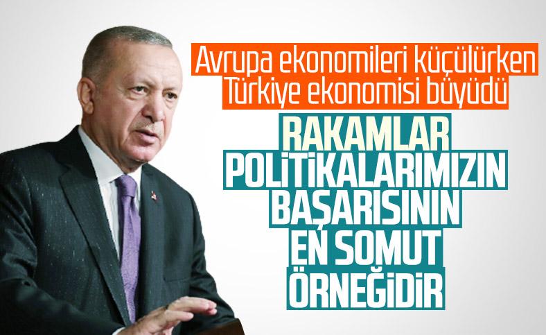 Cumhurbaşkanı Erdoğan: Büyüme oranımız, başarıların en somut örneği