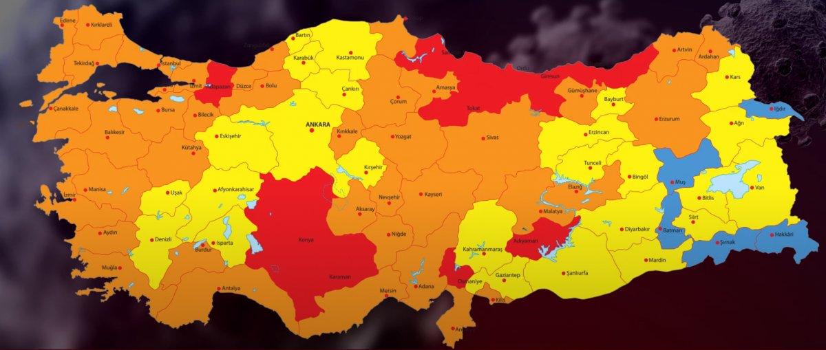 Türkiye nin koronavirüs risk haritası #1